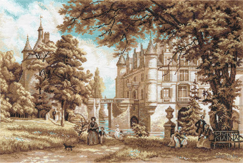 "Вышивка крестом ""В парке замка Шенонсо"" (485х335 мм) — фото, картинка"