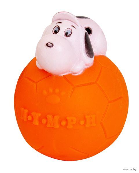 """Игрушка для собак виниловая """"Мяч с собакой"""" (7 см) — фото, картинка"""