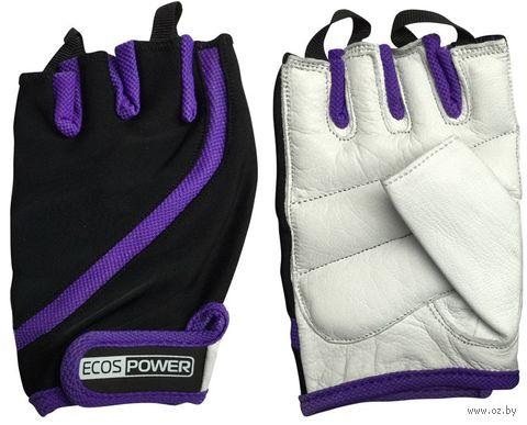 Перчатки для фитнеса 2311-VМ (М; чёрный/белый/фиолетовый) — фото, картинка