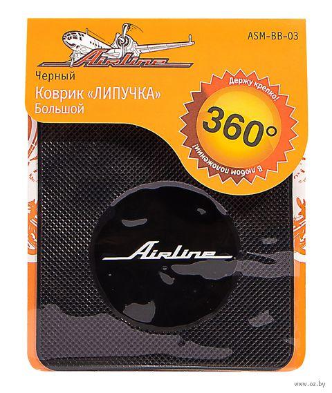 Коврик-липучка для мобильных устройств (138х160 мм; чёрный; арт. ASM-BB-03) — фото, картинка