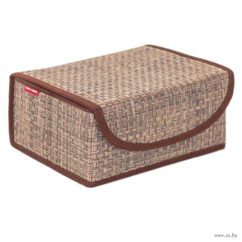 Коробка для хранения (23х17х10 см; коричневая) — фото, картинка