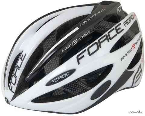 """Шлем велосипедный """"Road Pro"""" (бело-черный; р. X-XL) — фото, картинка"""