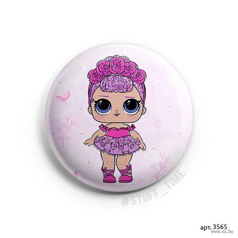 "Значок маленький ""Кукла LOL. Sugar Queen"" (арт. 3565) — фото, картинка"