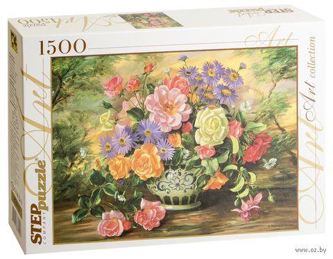 """Пазл """"Цветы в вазе"""" (1500 элементов) — фото, картинка"""