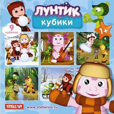 """Кубики с картинками """"Лунтик"""" (9 шт)"""