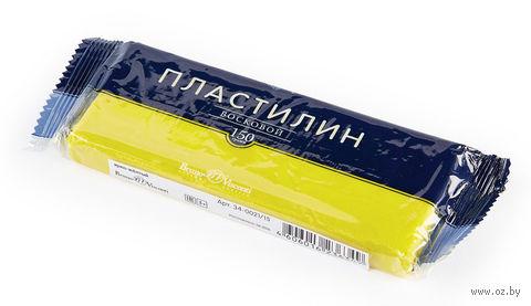 Пластилин восковой (150 г; ярко-желтый) — фото, картинка