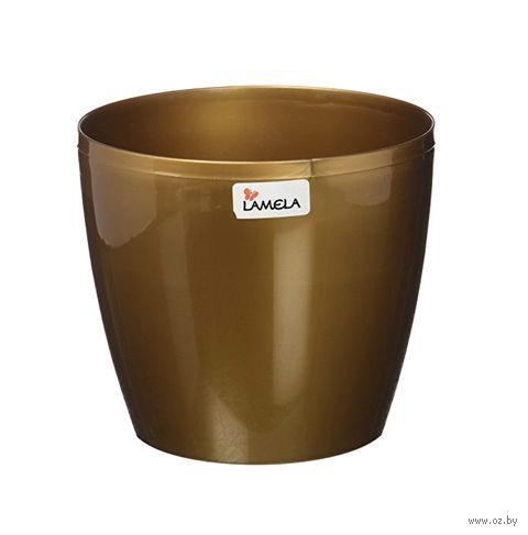 """Кашпо """"Magnolia"""" (15,5 см; золотой металлик) — фото, картинка"""
