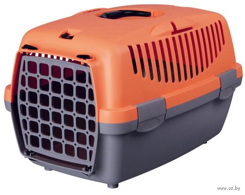 "Переноска для животных ""Traveller Capri I"" (32х31х48 см; серо-оранжевая) — фото, картинка"