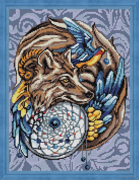 """Алмазная вышивка-мозаика """"Волшебный амулет"""" (300х400 мм) — фото, картинка"""