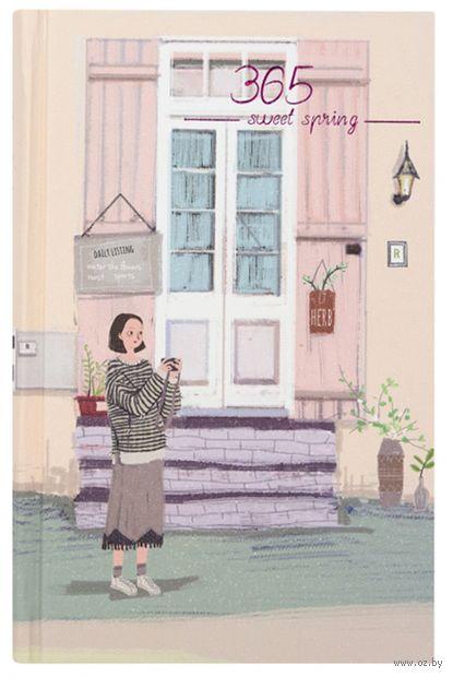 """Ежедневник недатированный """"365. Девушка на крыльце"""" — фото, картинка"""