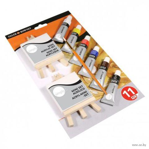 """Набор для рисования """"Simply Acrylic Mini Canvas & Easel Set"""""""