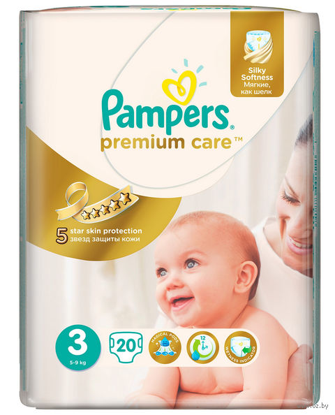 "Подгузники ""Pampers Premium Care Midi"" (5-9 кг, 20 шт)"