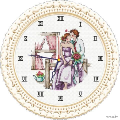 """Вышивка крестом """"Часы любви"""""""