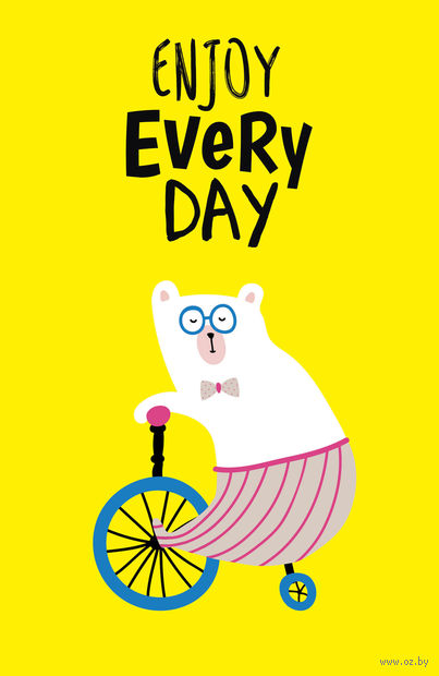 """Блокнот """"Enjoy every day"""" (А5; yellow) — фото, картинка"""