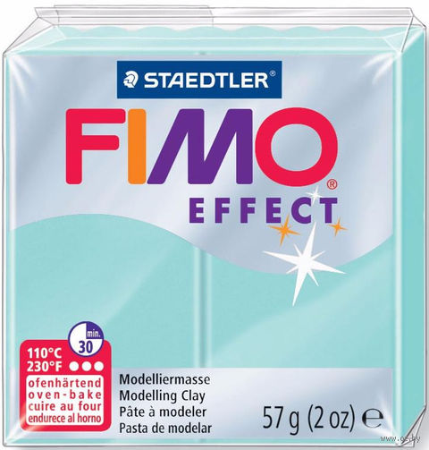 """Глина полимерная """"FIMO Effect"""" (мятный; 57 г) — фото, картинка"""