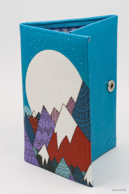 """Обложка на паспорт и автодокументы """"Луна в горах"""" — фото, картинка"""