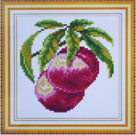"Алмазная вышивка-мозаика ""Персики"" (160х160 мм) — фото, картинка"