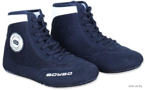 Обувь для борьбы (р. 32; чёрно-белая) — фото, картинка