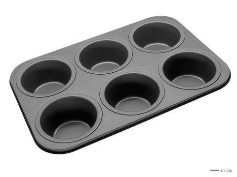 Форма для выпекания кексов металлическая антипригарная (380х260х50 мм)