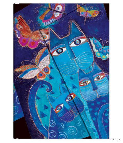 """Записная книжка Paperblanks """"Синие кошки и бабочки"""" в линейку (формат: 100*140 мм, мини)"""
