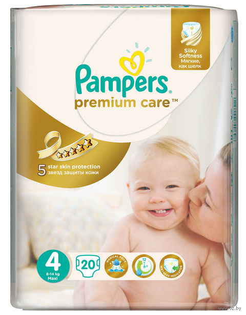 "Подгузники ""Pampers Premium Care Maxi"" (8-14 кг, 20 шт)"