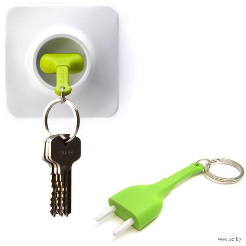"""Брелок и держатель для ключа """"Unplug"""" (зеленый)"""