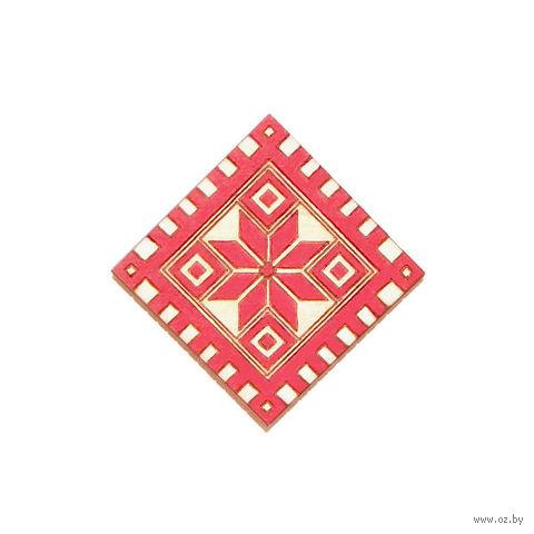 """Магнит деревянный """"Белорусский орнамент. Зорка"""" — фото, картинка"""