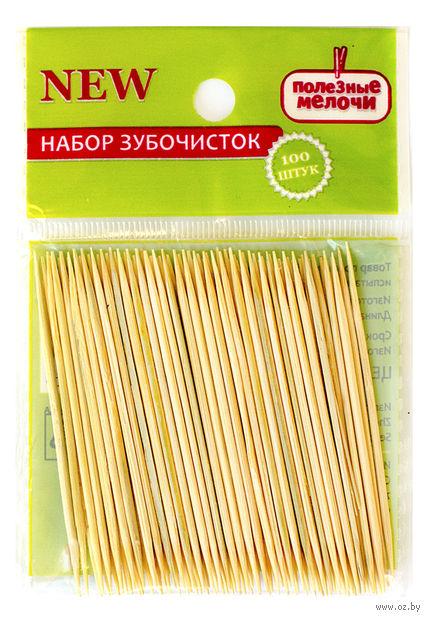 Набор зубочисток деревянных (100 шт.) — фото, картинка