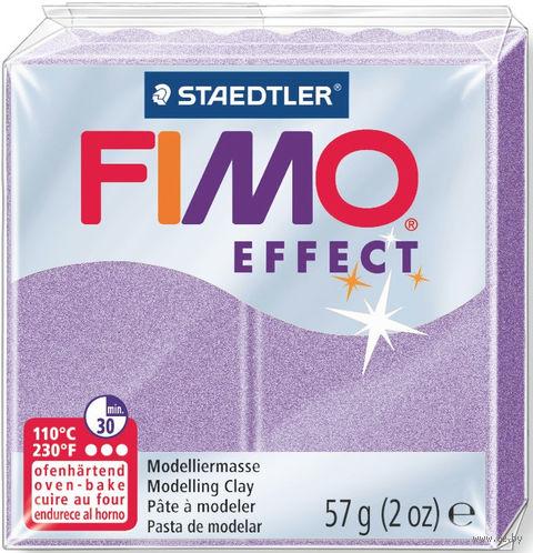 """Глина полимерная """"FIMO Effect"""" (перламутровый лиловый; 57 г) — фото, картинка"""