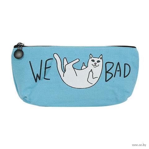 "Пенал ""Bad Cat"" (голубой) — фото, картинка"