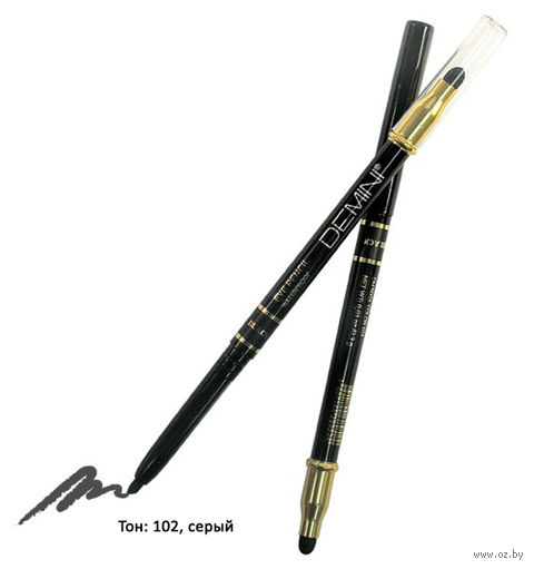 "Карандаш для глаз ""Waterproof Eye Pencil"" водостойкий тон: 102, серый — фото, картинка"