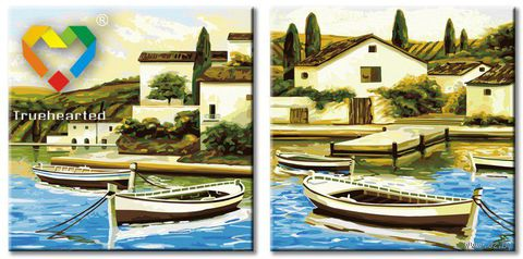"""Картина по номерам """"Берега Тоскании"""" (400x800 мм; арт. PH24080008) — фото, картинка"""