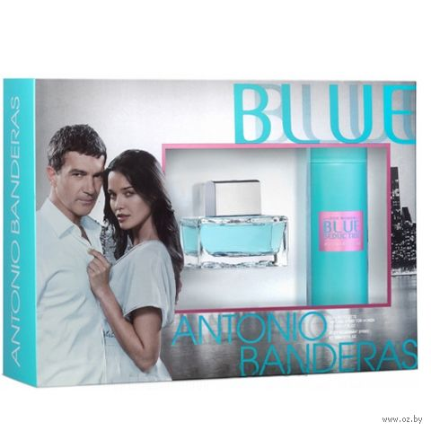"""Подарочный набор """"Blue Seduction"""" (туалетная вода, дезодорант-спрей) — фото, картинка"""