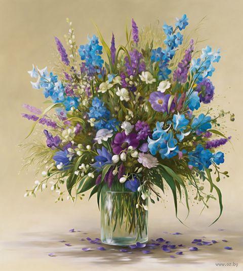 """Алмазная вышивка-мозаика """"Букет полевых цветов"""" (500x550 мм) — фото, картинка"""
