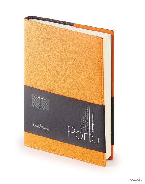 """Ежедневник полудатированный """"Porto"""" (А5; оранжевый) — фото, картинка"""