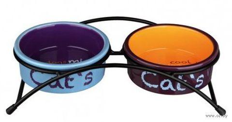 "Керамическая двойная миска на подставке ""Eat on Feet"" (2х0,3 л; арт. 24791)"