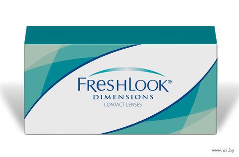 """Контактные линзы """"FreshLook Dimensions"""" (1 линза; -8,0 дптр; зеленая лагуна) — фото, картинка"""
