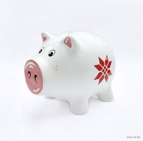 "Копилка ""Свинка. Богатство"" (белая) — фото, картинка"