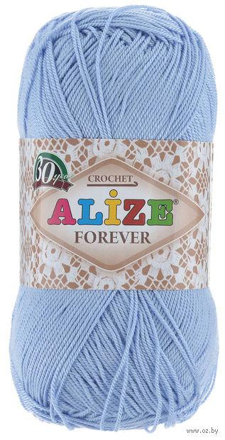 "Пряжа ""ALIZE. Forever №40"" (50 г; 300 м; голубой) — фото, картинка"