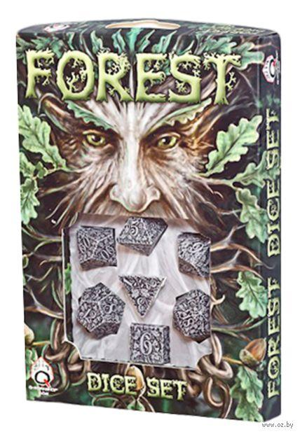 """Набор кубиков """"Forest"""" (7 шт.; бело-черный) — фото, картинка"""