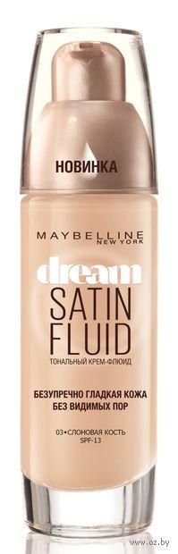"""Тональный крем-флюид для лица """"Dream Satin Fluid"""" (тон: 003, слоновая кость; 30 мл)"""