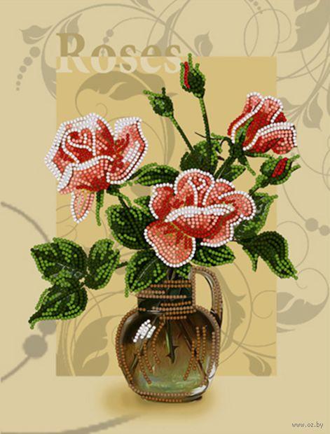 """Вышивка бисером """"Роза"""" (250х190 мм) — фото, картинка"""
