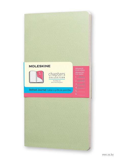 """Записная книжка Молескин """"Chapter"""" в точку (средняя; мягкая пастельно-зеленая обложка)"""