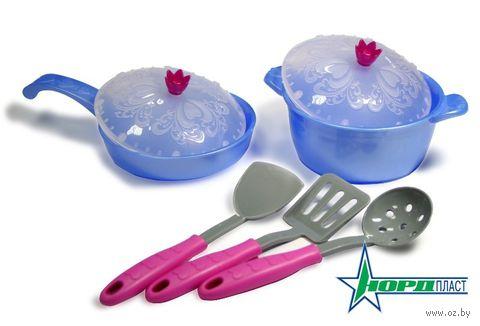 """Набор детской посуды """"Волшебная хозяюшка. Кухонный сервиз"""" (7 шт)"""
