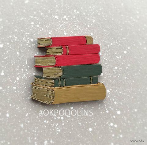 """Брошь """"Стопка книг"""" (арт. 363-3) — фото, картинка"""
