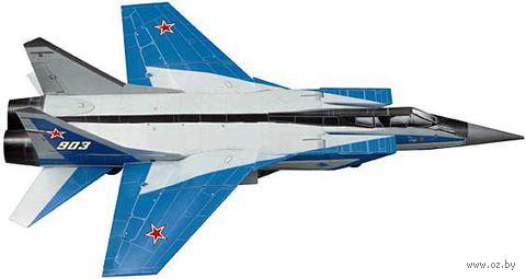 """Сборная модель из бумаги """"Истребитель перехватчик МИГ-31"""" (масштаб: 1/72)"""