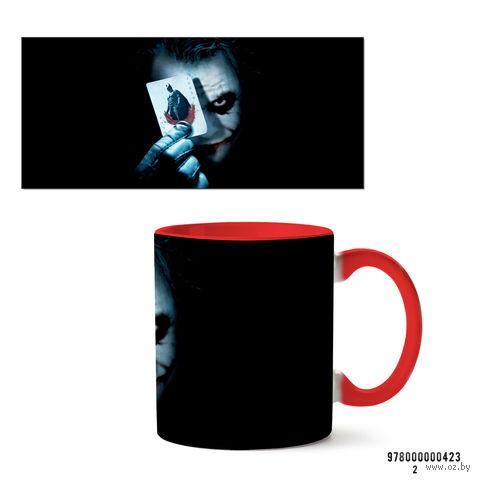 """Кружка """"Джокер из вселенной DC"""" (арт. 423, красная)"""