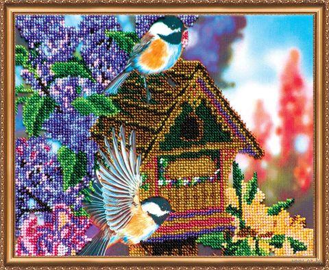 """Вышивка бисером """"В саду"""" (250х200 мм; арт. АВ-080) — фото, картинка"""