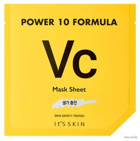 """Тканевая маска для лица """"Power 10 Formula VC Mask Sheet"""" (25 мл) — фото, картинка"""