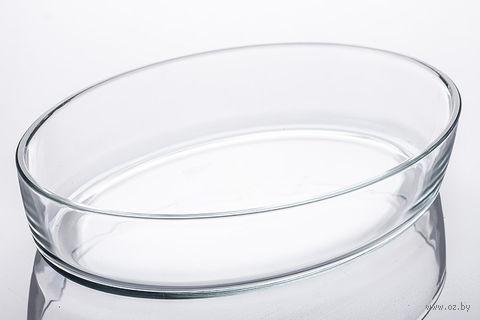 Блюдо стеклянное овальное (2,2 литра; натрий-кальций-силикатное стекло)